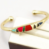Fashion vintage retro boho colorful charm gold plated bangle for women jewelry free shipping