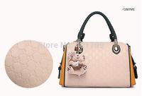 2014 New Women's Faux Leather Tote Hobo Bag Printing Shoulder Handbag Ladies Clutch Travel Messenger Bags