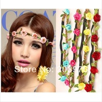 mix color 2014 new headwear Flower Crown, Floral Crown, Flower Headband, Hair Wreath
