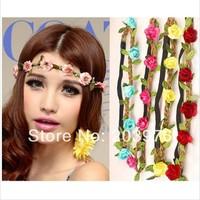 mix color 2014 new headwear Flower Crown, Floral Crown, Flower Headband, Hair Wreath