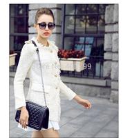 Fashion Lady Women Cute Retro Rhombus Leather Handbag Shoulder Bag Clutch With Chain Free Shipping