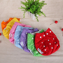 7 colors 0-2 years  nappy adjustable baby Shorts diaper pants urine pocket  diapers cloth diaper breathable(China (Mainland))