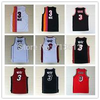 Miami 3 Dwyane Wade Throwback Jersey, Cheap Retro Wade Basketball Shirt Vintage Rainbow Basketball Jerseys Embroidery Logo