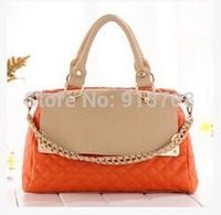 2014 new women's European and American fashion handbags shoulder diagonal serpentine leisure car suture package