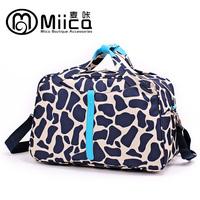 Newest women travel bags cow pattern lady luggage shoulder duffles nylon crossbody  travel organizer totes handbag free shipping