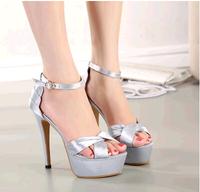 2014 Summer sandals thin heels open toe high-heeled shoes women's platform high-heeled shoes princess high-heeled sandals