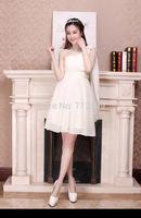 Free shipping Bridesmaid Dresses wedding dress evening dress party dress one shoulder women dress