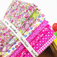 7pcs assorted prints 100% cotton fabric patchwork fat quarter home textile cloth material for sewing crafts 45cm*50cm