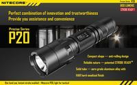 2014 New Nitecore P20 Tactical Led Flashlight Cree XM-L2 T6 Led Flashlights 800 Lumens By 18650 Battery Free Shipping