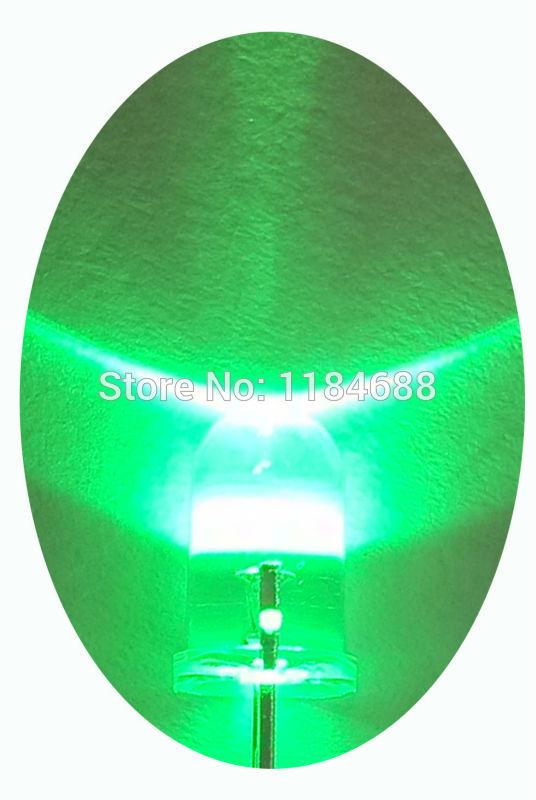 Free shipping 1000pcs /lot Transparent Round LED 5MM Green Light Colour LED bulbs green light emitting diode F5mm Green LED(China (Mainland))