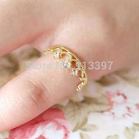 36PCS European Fashion Style Retro Crown Ring Rhinestone Alloy Rings