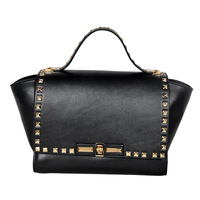 2014 cowhide fashion handbag women leather handbags totes 2014 fashion handbag rivet bags