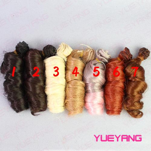 Bjd peruk bebek diy yüksek sıcaklık tel el yapımı moda