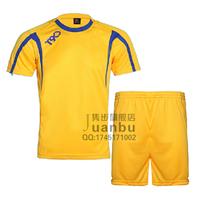 2014 soccer jersey short-sleeve set paintless football jersey football training suit