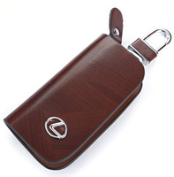 Wholesale Luxury Quality Car Key Bag Case Pockets Free Shipping Genuine Leather for Lexus Car Accessory