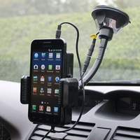 2014 New Electronic Functional Car Mount Holder With Car Charger Mp3 Hands-free Hi-Fi FM Stereo Transmit  For iPhone Samsung HTC
