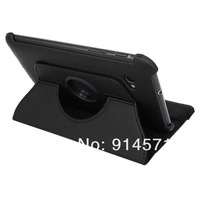 Free shipping 360 degree rotating Swivel leather case cover for Samsung Galaxy note--T800