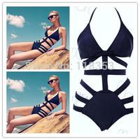 2015 Hot sell Women's Swimwears Neoprene Bikinis triangl style swim suit  Bikinis push up Free Shipping