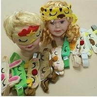 12pcs / lot free shipping  2-8years old cartoon animal design eyemask fashion children headband 2014 new design