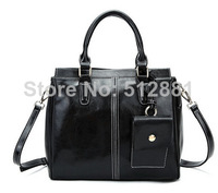 New 2014 solid Genuine leather women's shoulder bag women's fashion genuine leather handbag tote