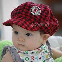 New Arrived 100% Cotton Children cap baby  baseball hat plaid children