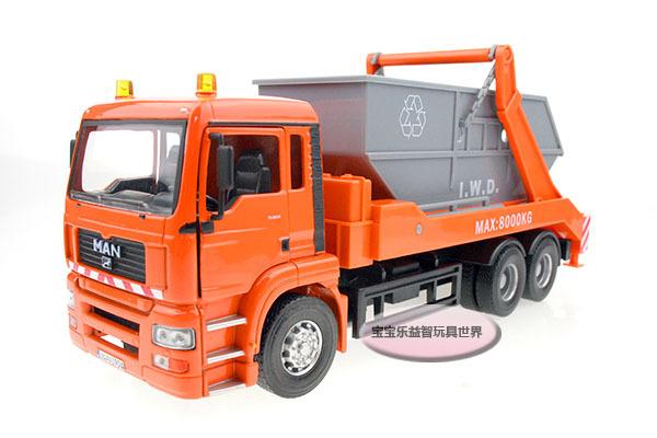 Free Shipping 1:32 Giant 6 wheel dump truck luxury gift box alloy model cars(China (Mainland))