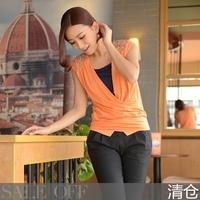 2014 New Arrival gentlewomen pullover top paillette decoration sleeveless T-shirt