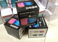T-2020A Digital portable Mini bluetooth Speaker MP3 Player USB Disk Micro SD TF Card FM Radio Line In/ Out wireless sound box