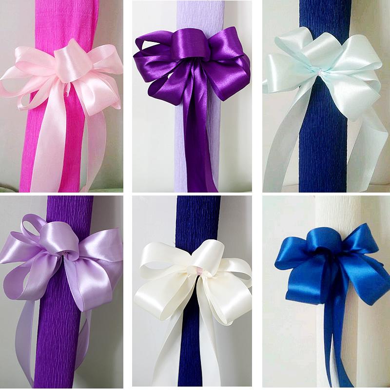 ribbon D 20 cm,L10 cm, ribbon streamers garland, wedding, festival celebration, hand garland bowknot, cloth art garland(China (Mainland))