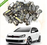 Free shipping 9 pcs Error Free FOR Volkswagen Golf GTi MK5 VW LED Interior Lights Bulb SMD Kit Package