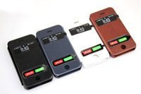 9 colors PU Leather Stand Design case for iPhone 5s Leather case set with bracket function CI005