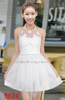 Halter paragraph upscale ladies fashion dress bridesmaid sisters bridesmaid dress