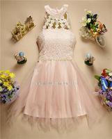 8358042 new spring beads halter dress 2014 vestidos de madrinha 2014