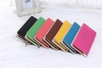 2014 new fashion lady girl women long purse bow style wallet PU bag handbag gift