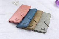 Woman Genuine Leather Wallet Clutch Lady Long Handbag Phone Case Money Card Case