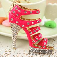 chaveiro personalized gifts,fashion High-heeled Shoe Key Chain Ring,nice Crystal keychain keyring,bag&Car ornaments,llaveros