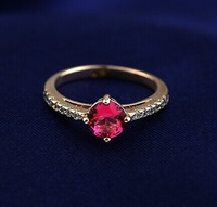 New Arrival Fashion Austrian Red Crystal 18K Rose Gold Plated Rings for Women High Quality Jewelry Free Shipping