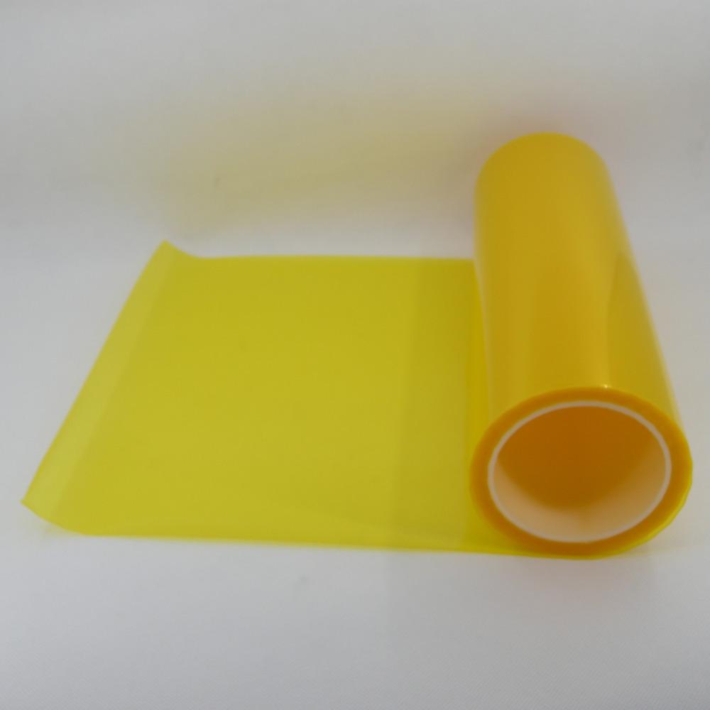 "Free Shipping Vinyl Film Tint Headlight Taillight Foglight 12""x354""/30cmx900cm golden yellow(China (Mainland))"