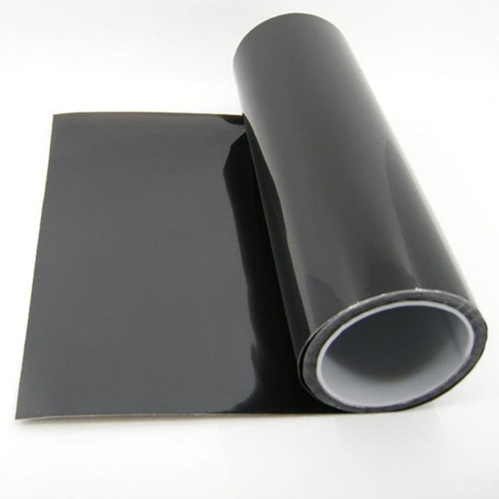 "Free Shipping Vinyl Film Tint Headlight Taillight Foglight 12"" x 48""/30cm x 122cm dark black(China (Mainland))"