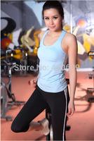 Free Ship Summer Women Yoga Sets Vest+Capris Pant High Quality Yoga Clothes Women Fitness Clothes Spandex Sport Apparel