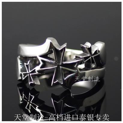 Cross import Thai silver ring(China (Mainland))