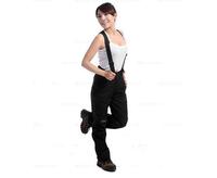 Women Outdoor sports pants of charge detachable waterproof windproof fleece warm leisure female trousers