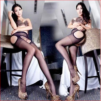 SW324  hot selling pantyhose open crotch black close-fitting stocking temptation women sexy lingerie