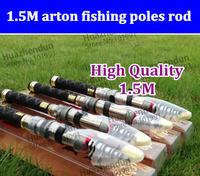 2pcs/lot FREE SHIPPING 1.5m carton fishing poles fishing rods carbon fiber spinning rods telecopic portable Sea carp rods