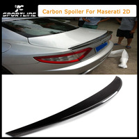 2006-2010 Real Carbon Fiber 2D Car Rear Wings, Trunk Lip Spoiler For Maserati (Fit For Maserati 2D 06-10)