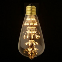 10PCS/ Lot, home led lamp 3W, 320Lm 360 Degree NO-Dimmable LED Fliament light Bulb, Size 64*138 ,led bulbs E27/B22