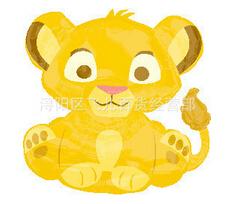 Cute little lion balloon / aluminum balloons(China (Mainland))