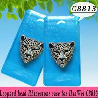Leopard head rhinestone Case For  Huawei Ascend Y530 C8813 ,New Arrival Crystal Diamond Hard Back Skin Mobile phone Case