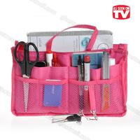 New Fashion Style Nylon Folding Handbag Insert Comestic Gadget Purse Orgabizer Sundries Storage Bag My Easy Bag Free Shipping