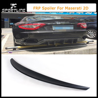 FRP Unpainted Black Primer Rear Trunk Spoiler, Tail Lip Spoilers For Maserati (Fit For Maserati 2D 2011UP)